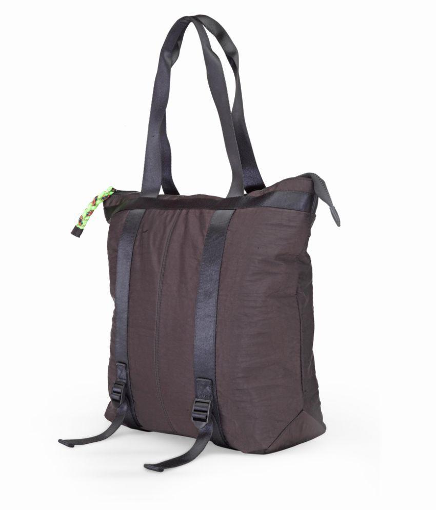 London Rag Black Nylon Tote Bag