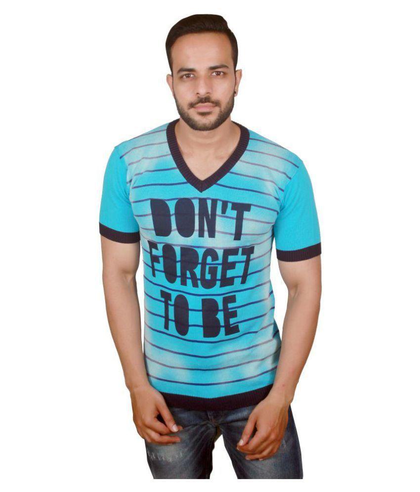 Raab Blue V-Neck T-Shirt