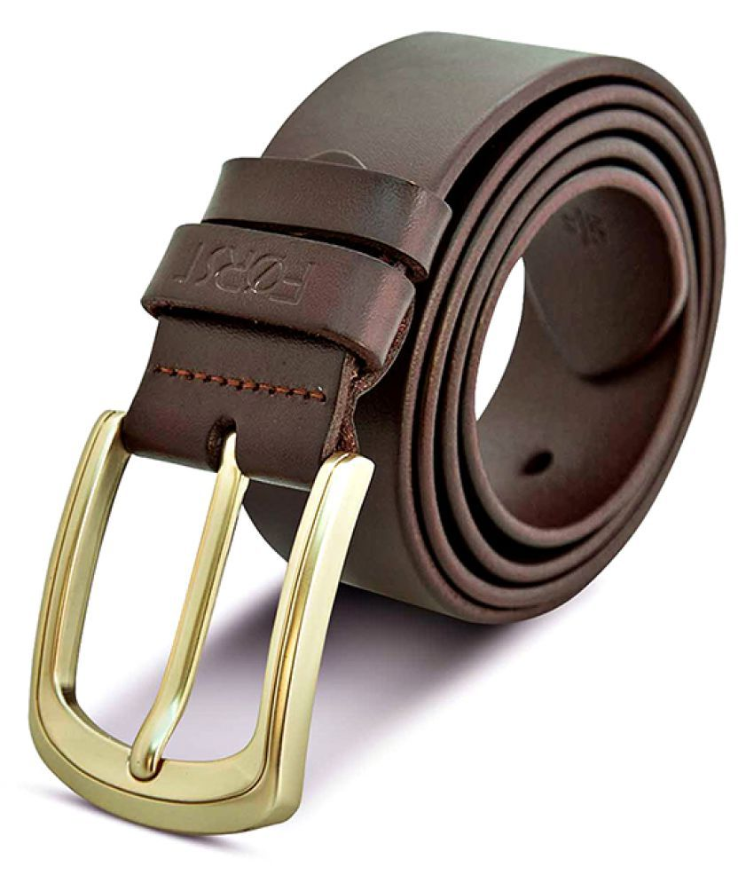 Forst Brown Leather Casual Belts