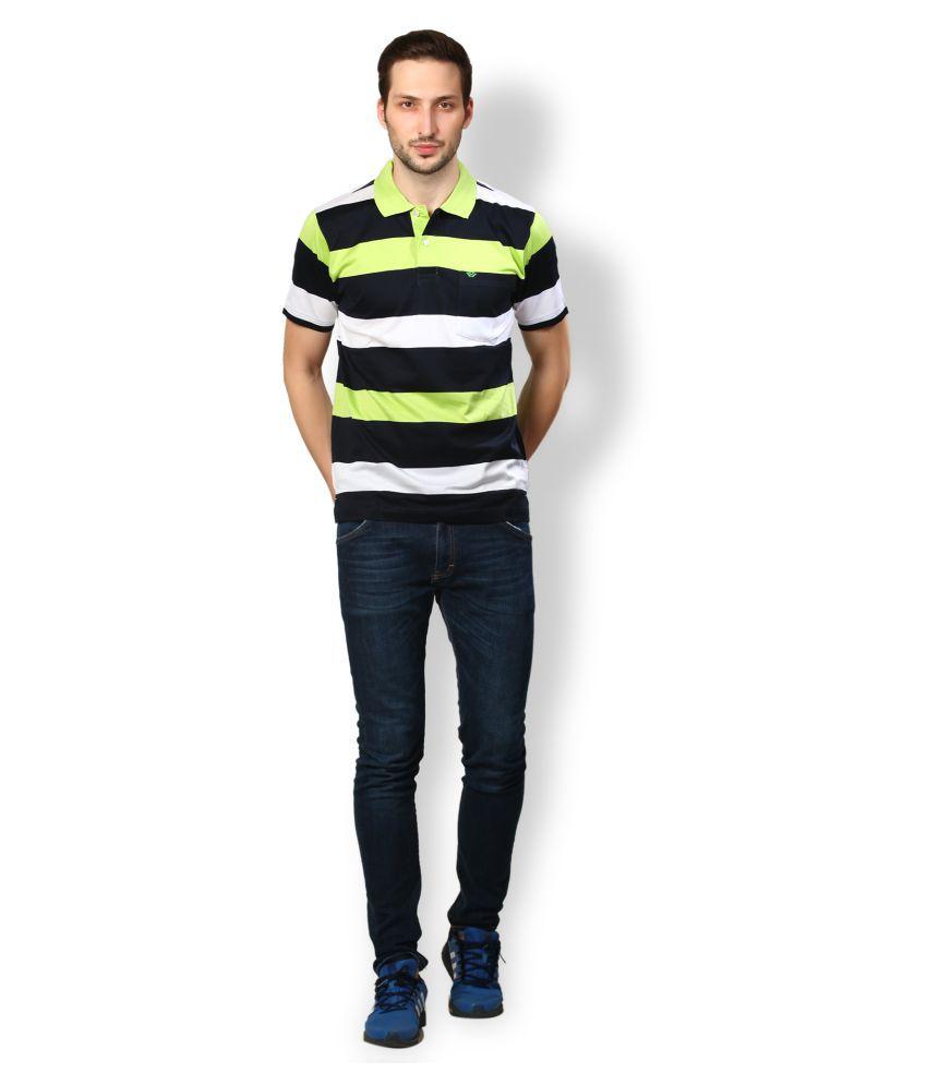 UV & W Black Cotton Polo T-Shirt