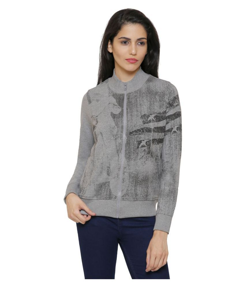 Maggivox Cotton Zippered Sweatshirt