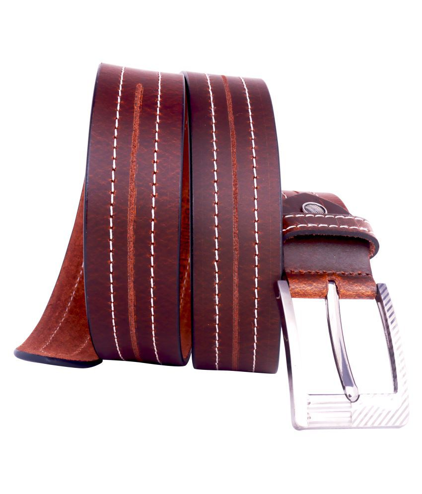 Lovekushcart Brown Leather Casual Belts