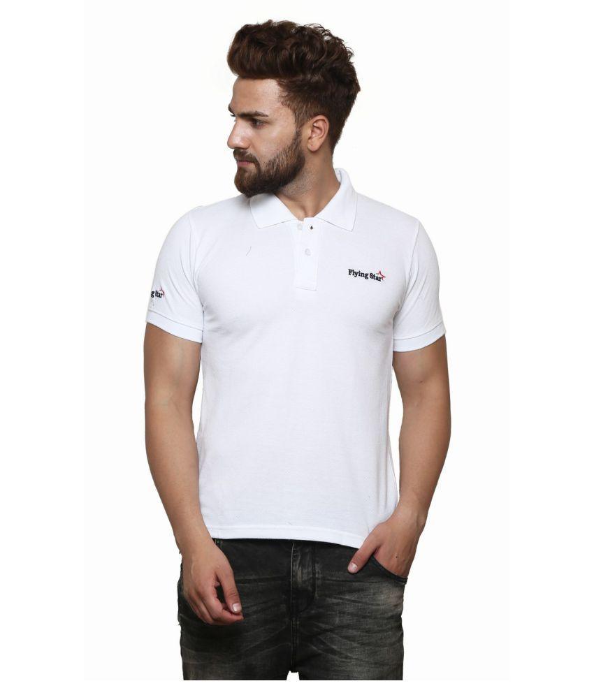 Strak White Round T-Shirt