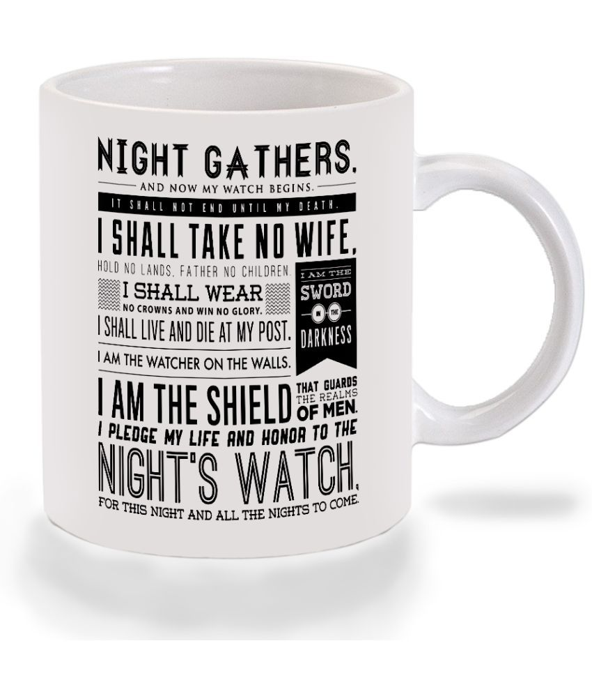 Mooch Wale Game Of Thrones Nights Watch Oath Ceramic Dinner Set of 1 Pieces