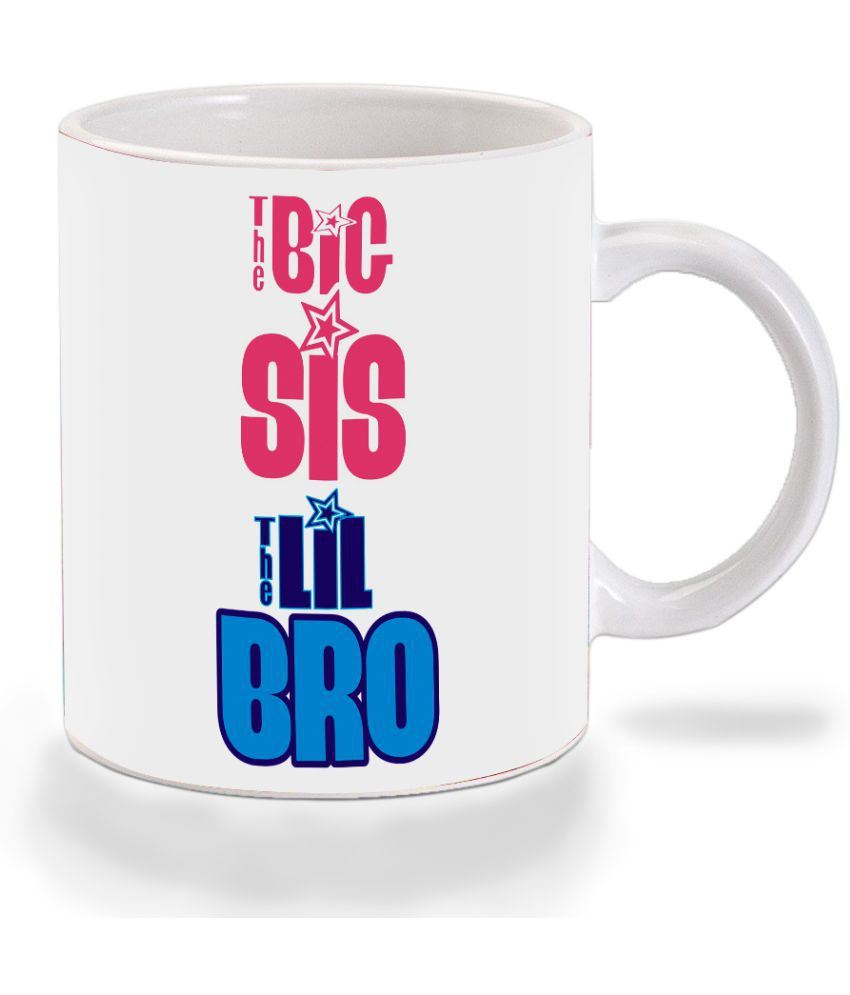 Mooch Wale The Big Sis The Lil Bro  Ceramic Dinner Set of 1 Pieces