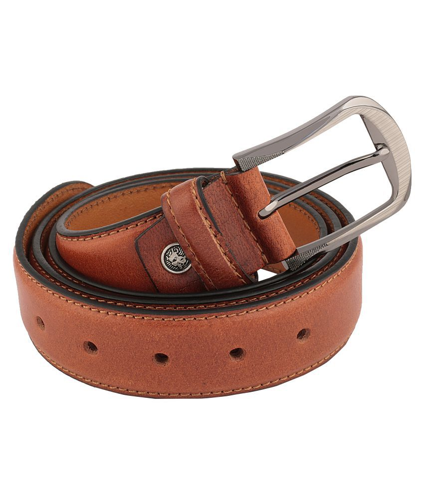 Signature Plus Tan Leather Formal Belts