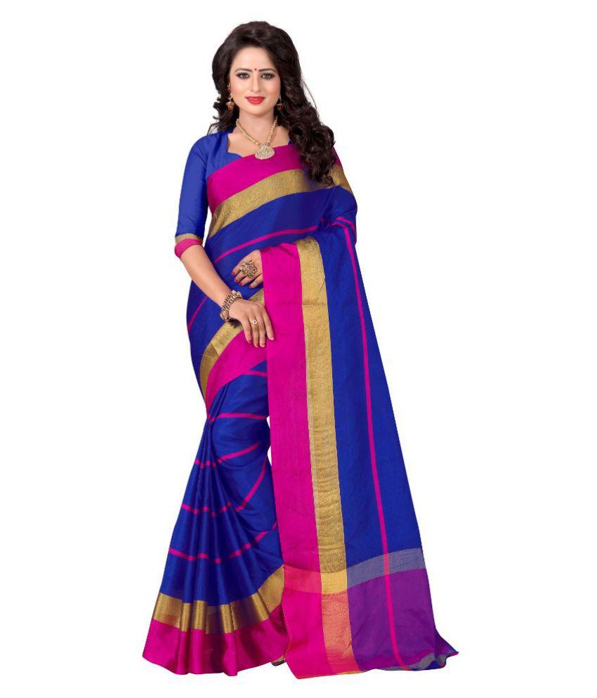 Skyzone group Multicoloured Cotton Silk Saree
