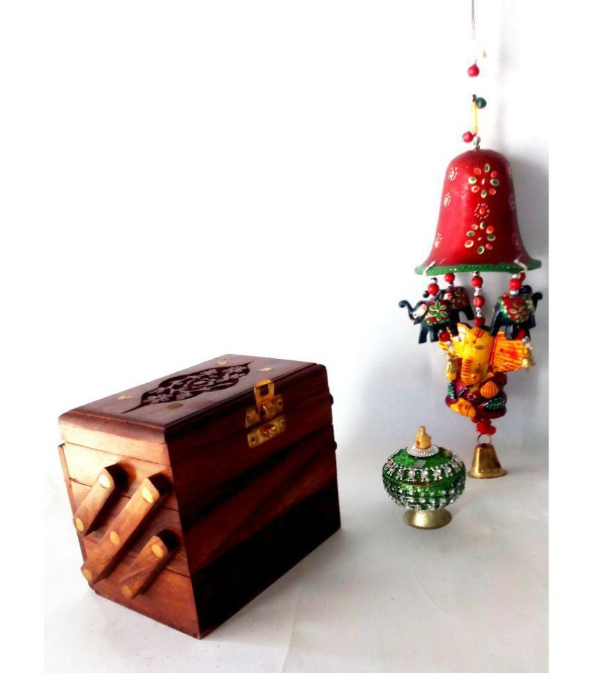 Royals Antique Vintage Décor storage items- Jewellery  box / shringar box / Ganesha Ringing Bell