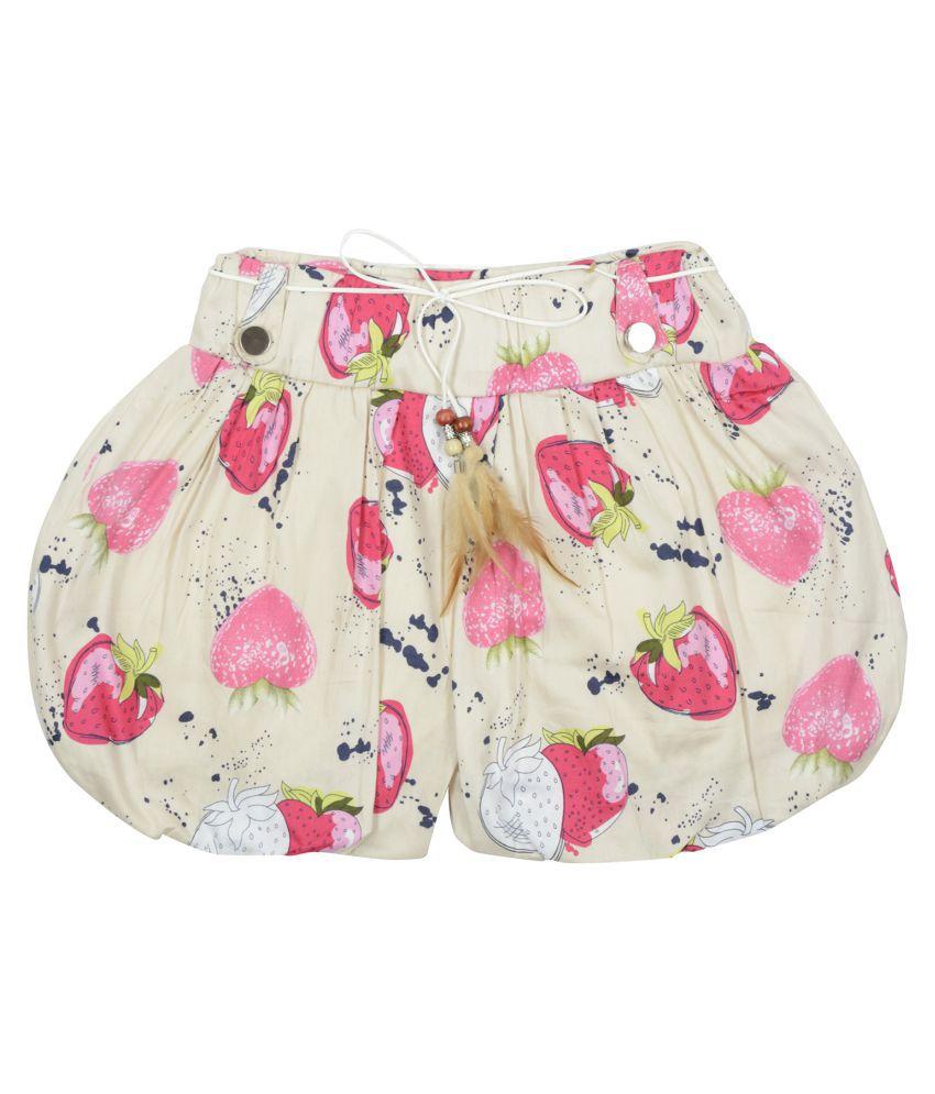 Carrel Cotton Fabric Printed Girls' Short