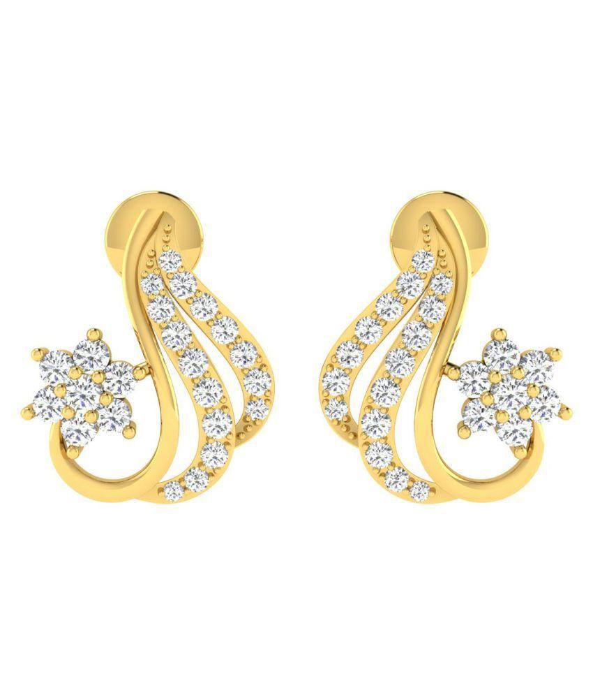 Gili 18k BIS Hallmarked Gold Diamond Studs