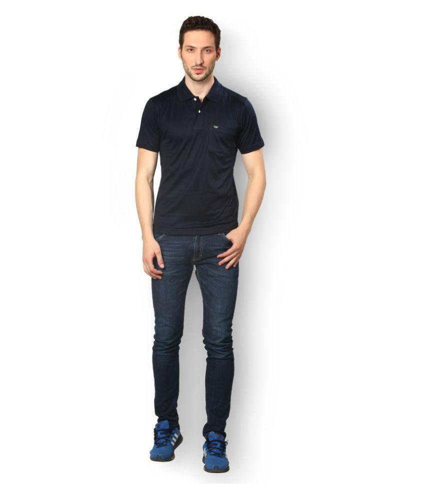 UV & W Blue Cotton Polo T-Shirt