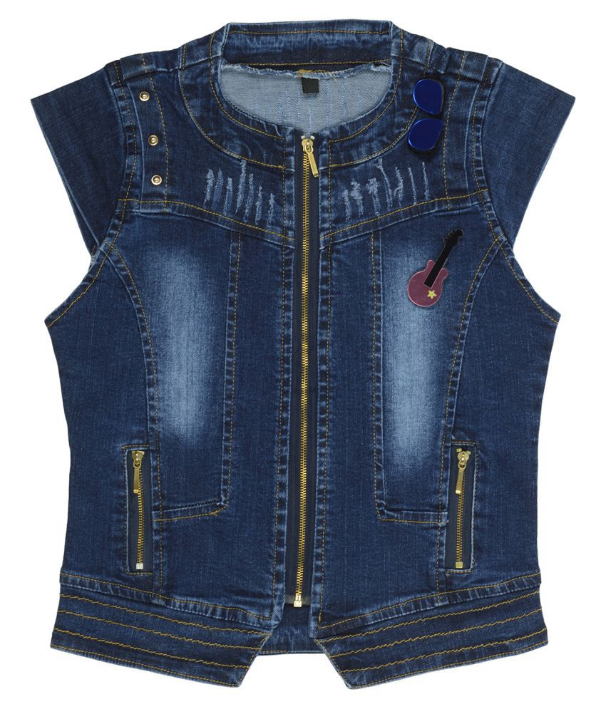 Carrel Girls Darkblue Denim Jacket