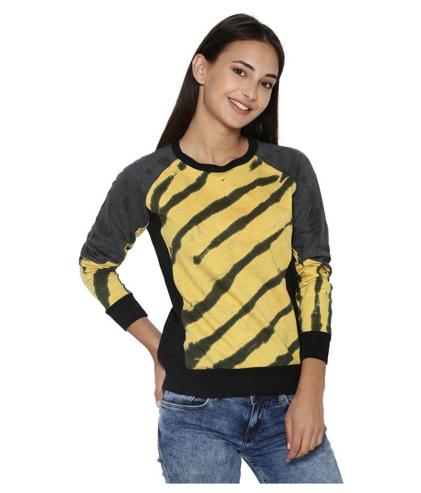 Campus Sutra Cotton Non Hooded Sweatshirt