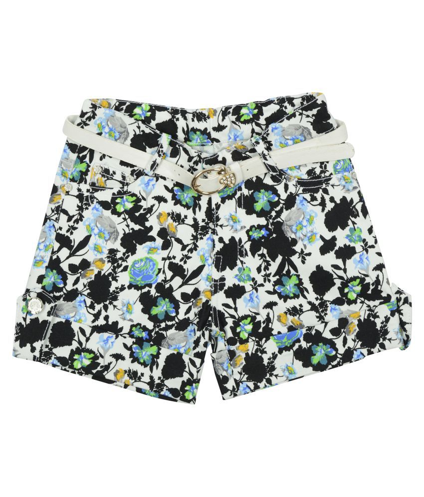 Carrel Cotton Fabric Girls Multicolor Short