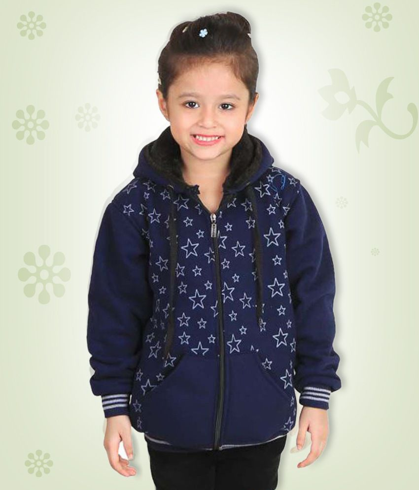Qeboo Dark Blue Jacket for Girls