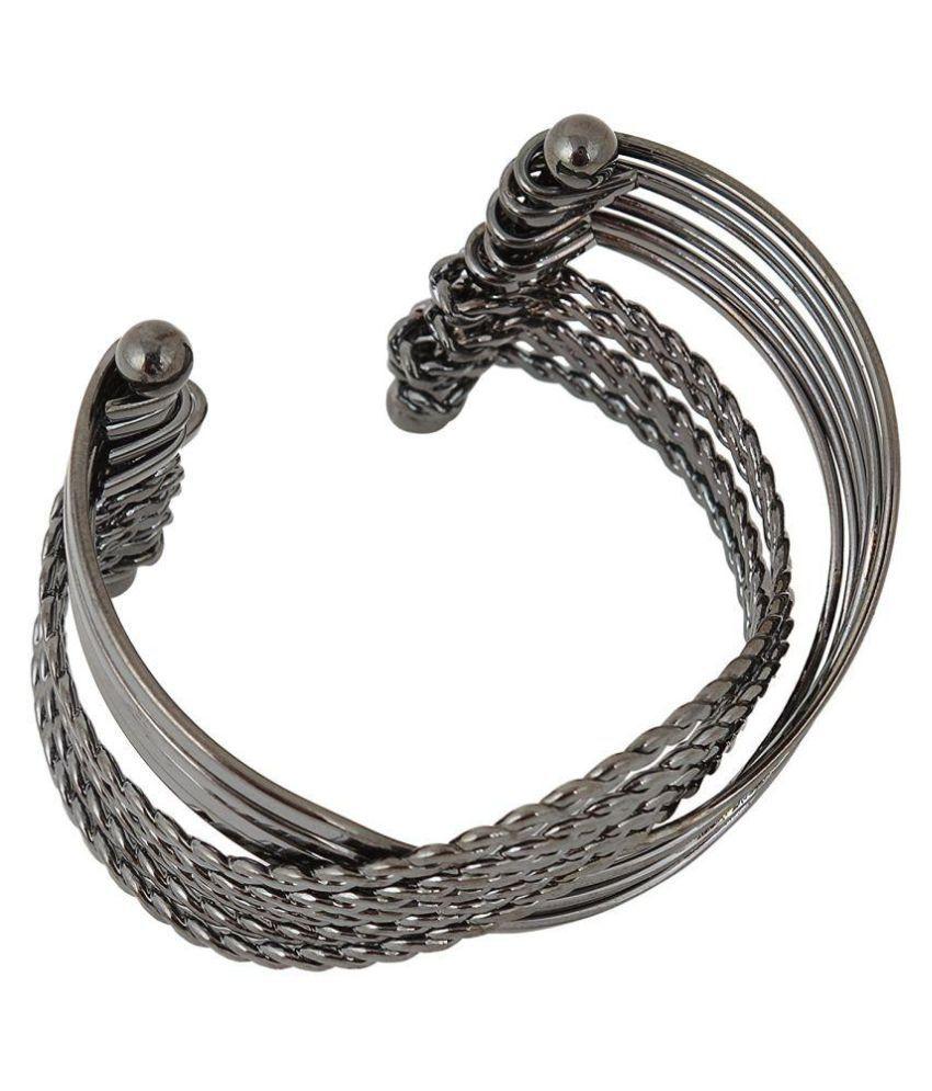 Fahshionforsure Grey Metal Cuff for Women (B88)…