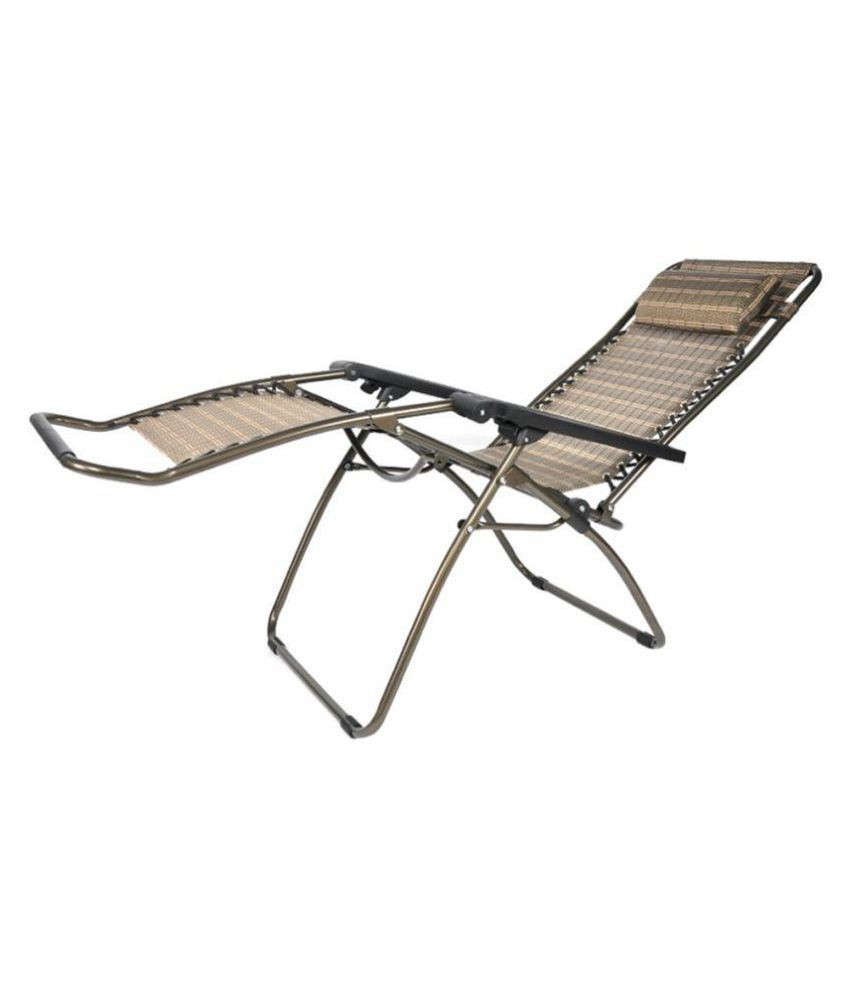 folding zero gravity lounge chair reclining chair with adjustable rh snapdeal com