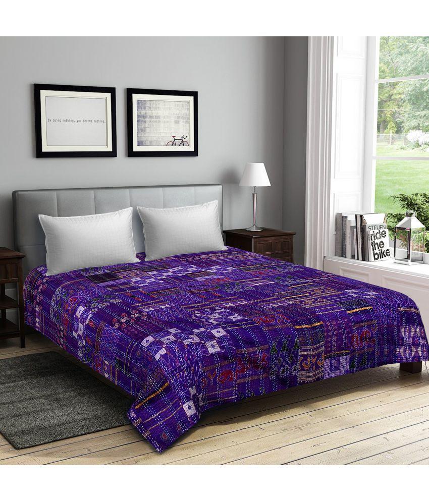 SAAVRA Cotton Double Bedsheet
