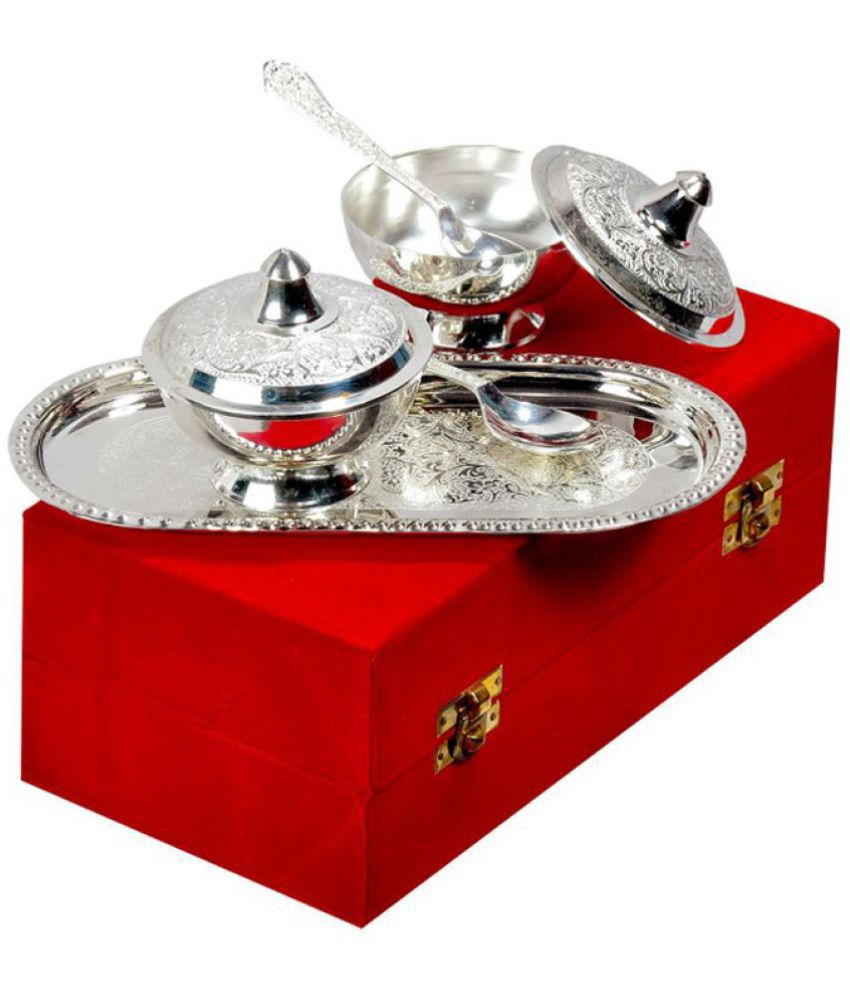 INTERNATIONAL GIFT Brass Diwali Hampers Silver - Pack of 5