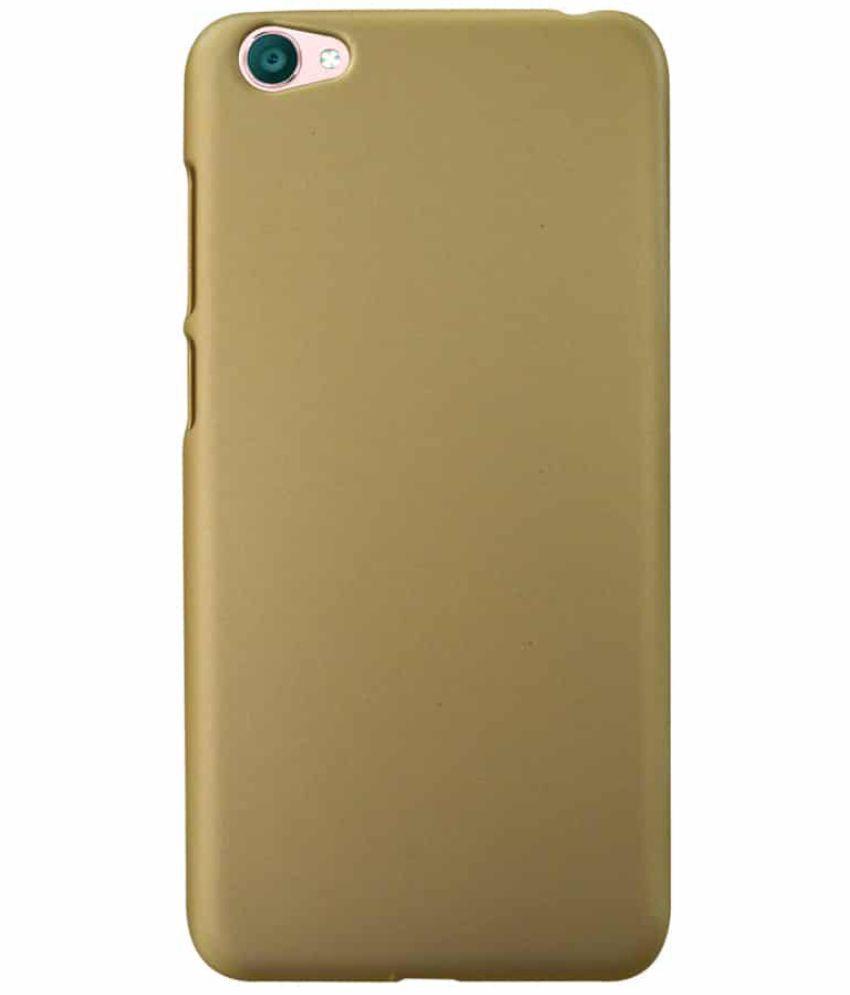 on sale e850b 89e52 Vivo Y55 Plain Cases Coverage - Golden