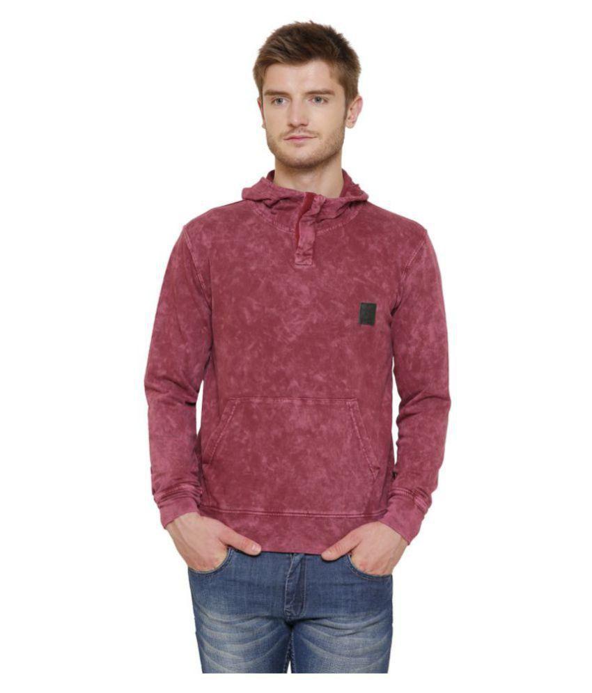 Maggivox Red 100 Percent Cotton Fleece Sweatshirt
