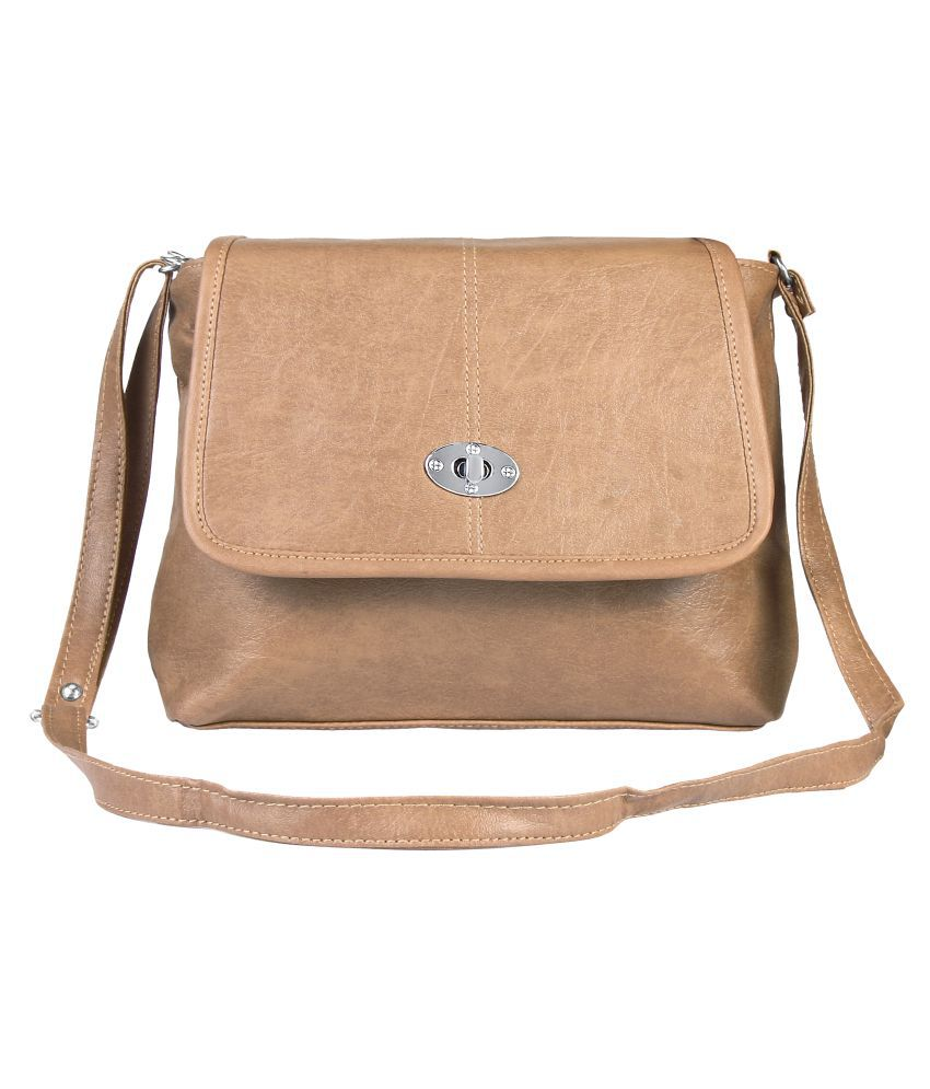 Tycos Brown Cotton Shoulder Bag