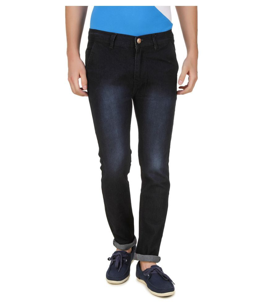 5ACE Black Slim Jeans