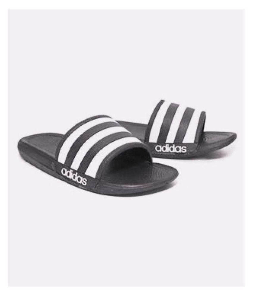 29480c00ff Adidas Adidas slider flip flop slipper Black Slide Flip flop Price in India-  Buy Adidas Adidas slider flip flop slipper Black Slide Flip flop Online at  ...