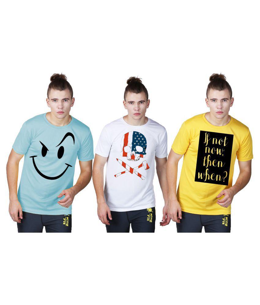 Essenze Multi Round T-Shirt Pack of 3