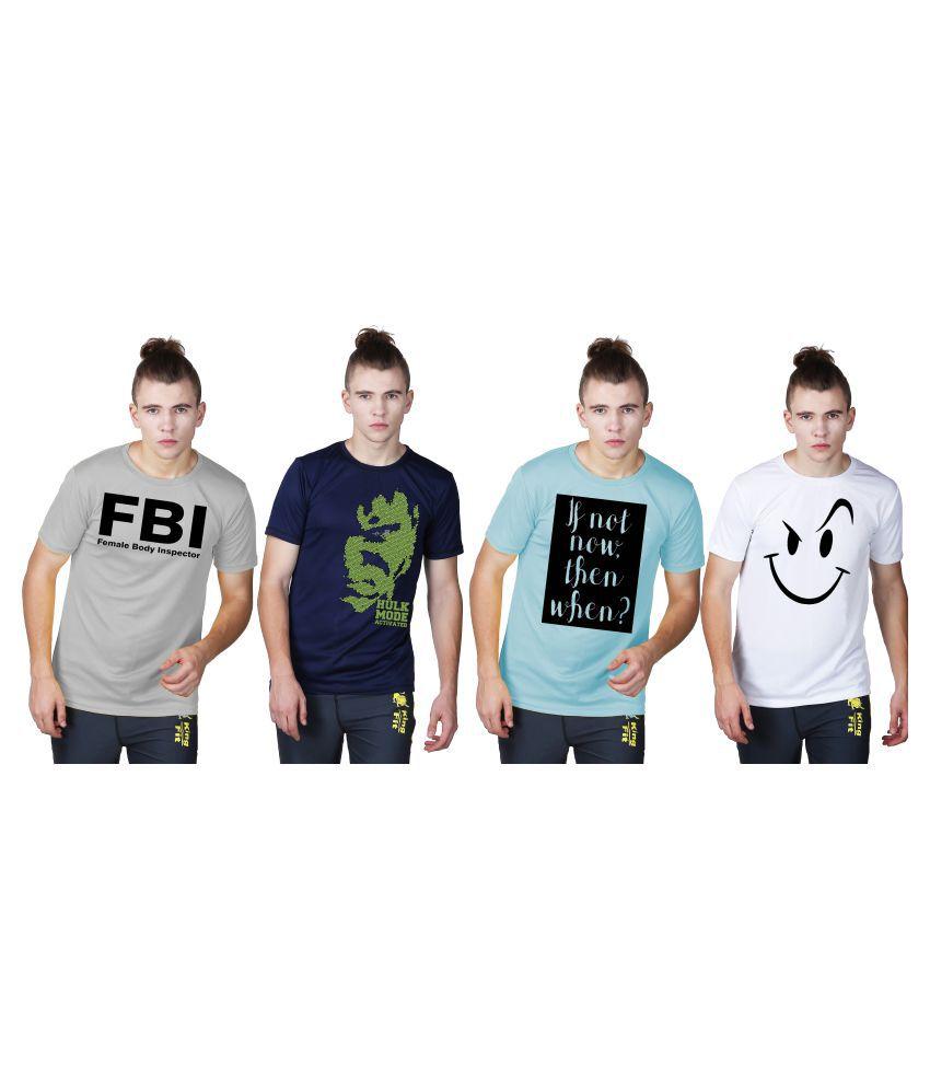 Essenze Multi Round T-Shirt Pack of 4