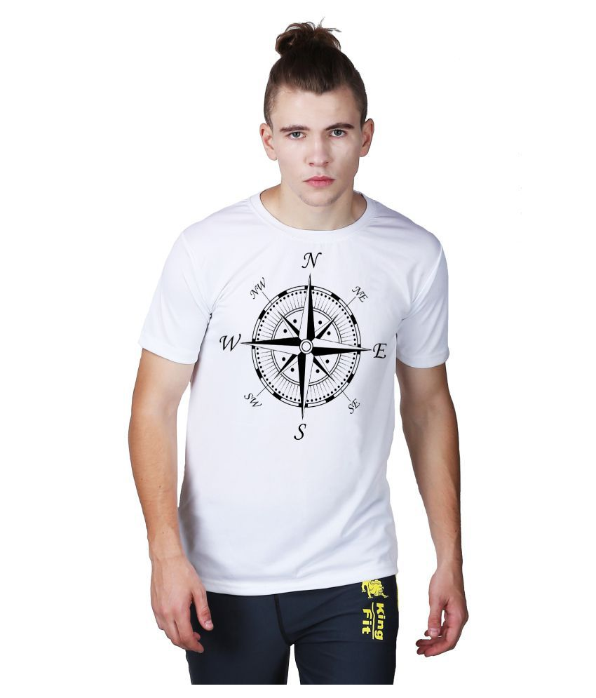 Essenze White Polyester T-Shirt Single Pack