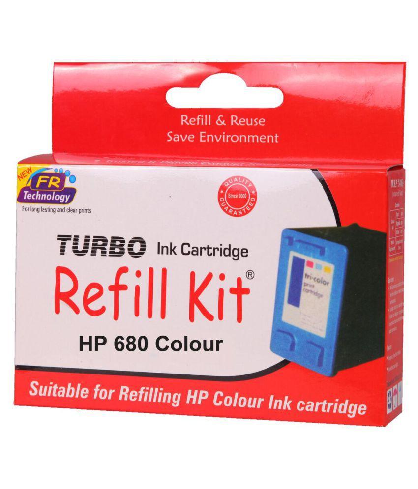 Turbo refill kit for hp 680 cartridge Tricolor Ink Single