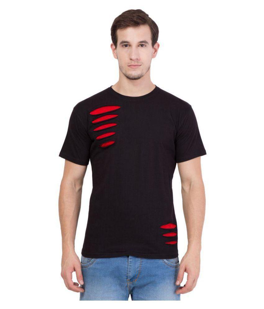 American-Elm Black Round T-Shirt