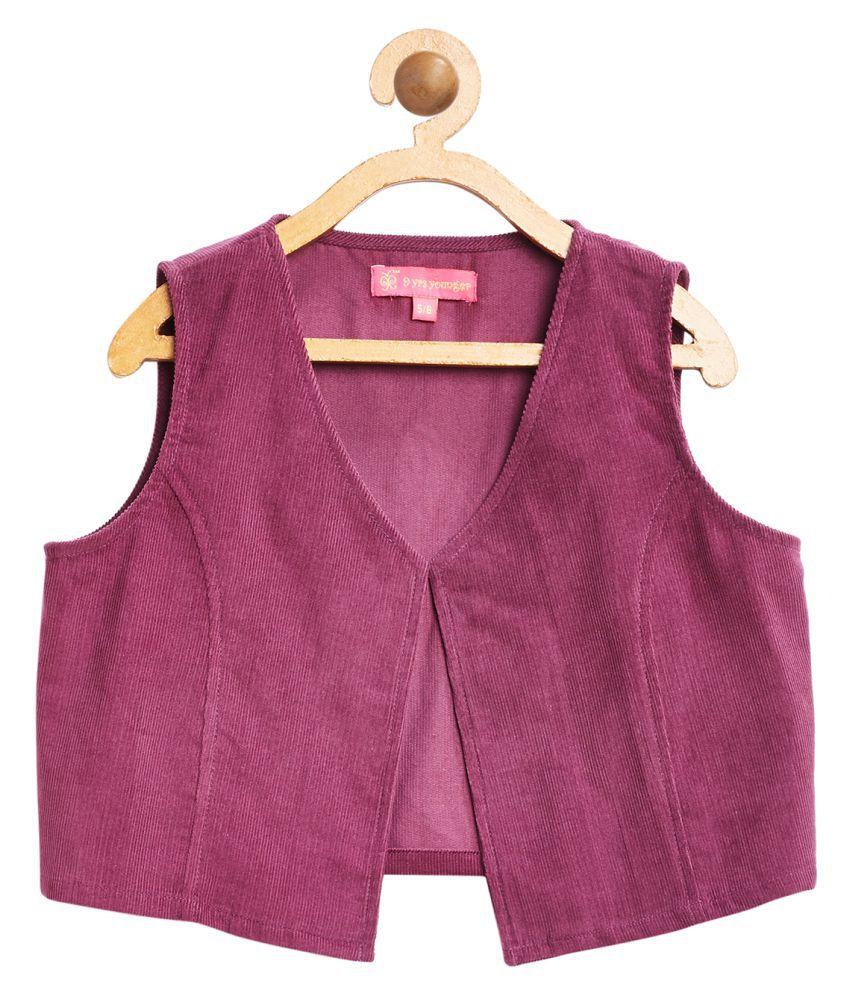 Boysenberry Solid Corduroy Jacket