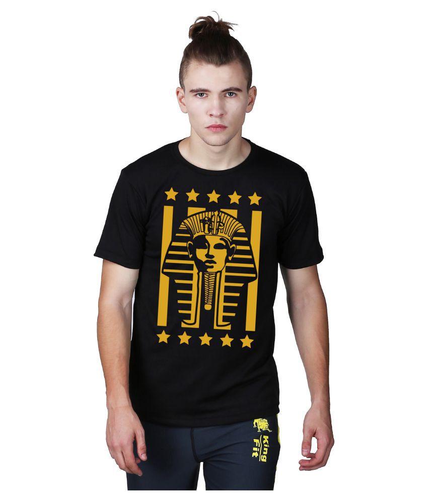 Essenze Black Polyester T-Shirt Single Pack