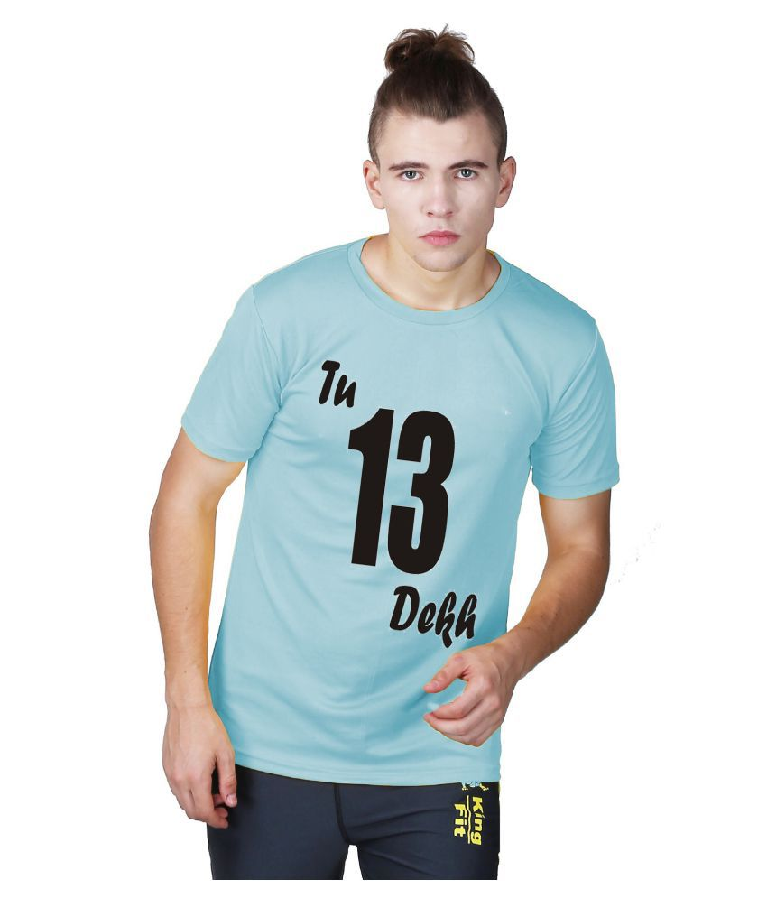 Essenze Blue Polyester T-Shirt Single Pack