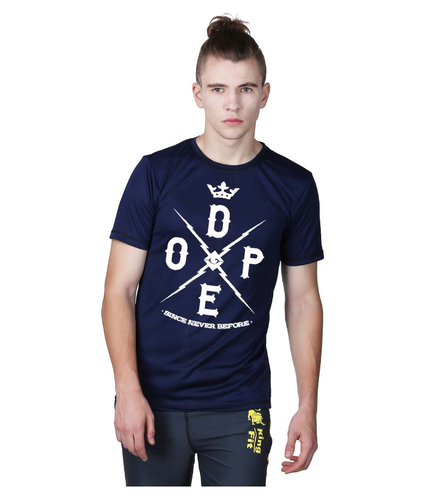 Essenze Navy Polyester T-Shirt Single Pack