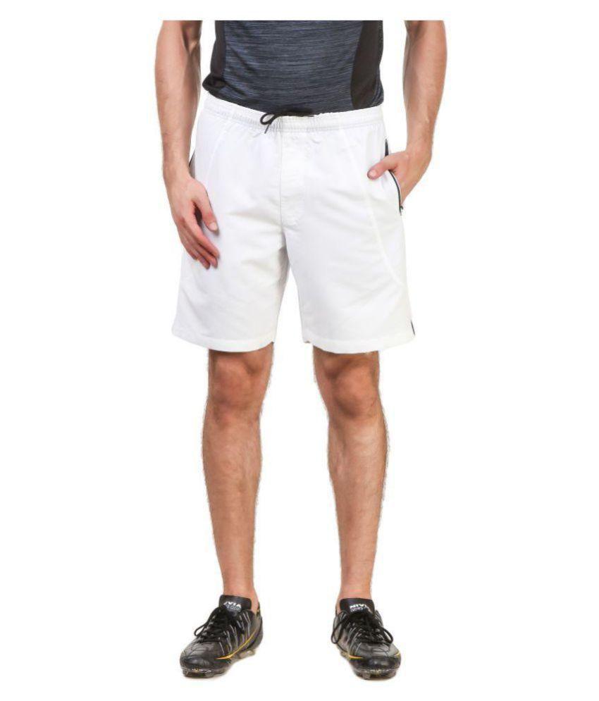 Nivia White Polyester Running Shorts