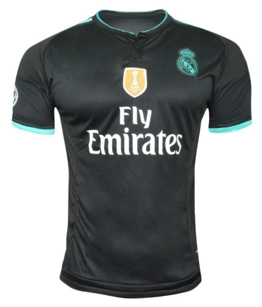 Real Madrid F C Black Polyester Jersey