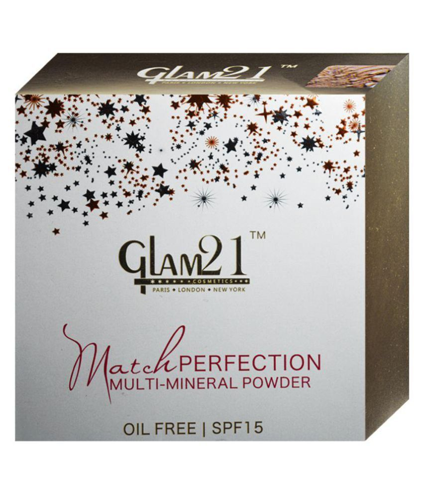 Glam 21 Match Perfection Multi-Mineral Pressed Powder #3 Peach SPF 15 20 gm
