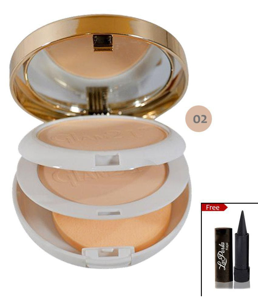 Glam 21 Match Perfection Multi-Mineral Pressed Powder #2 Peach SPF 15 20 gm