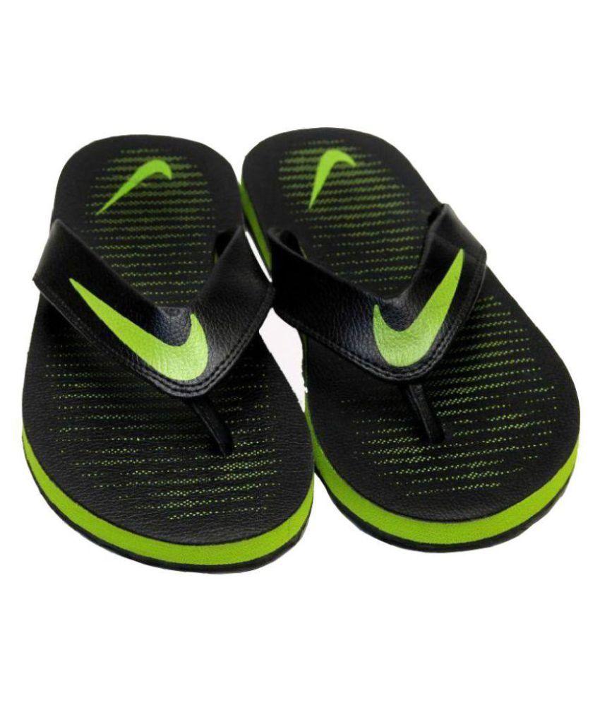 ea7ee43f4 Nike Action slipper CROMA Thong 5 black green Black Thong Flip Flop Price  in India- Buy Nike Action slipper CROMA Thong 5 black green Black Thong  Flip Flop ...