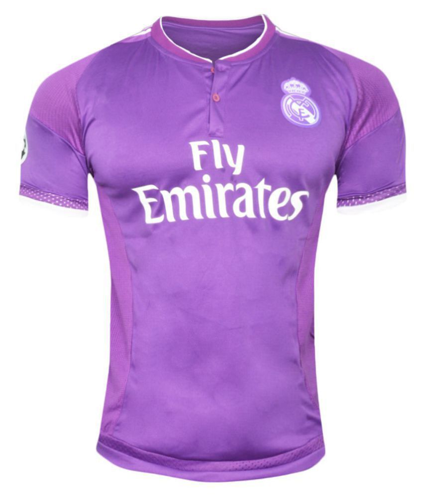 save off a18ab b33c0 Real Madrid F C Purple Polyester Jersey - Buy Real Madrid ...