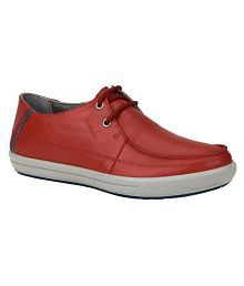 Woodland Red Casual Shoes