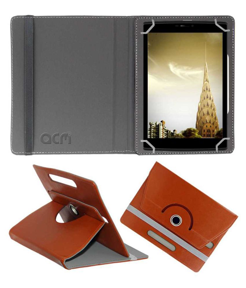 micromax canvas tab p802 flip cover by acm brown cases covers rh snapdeal com