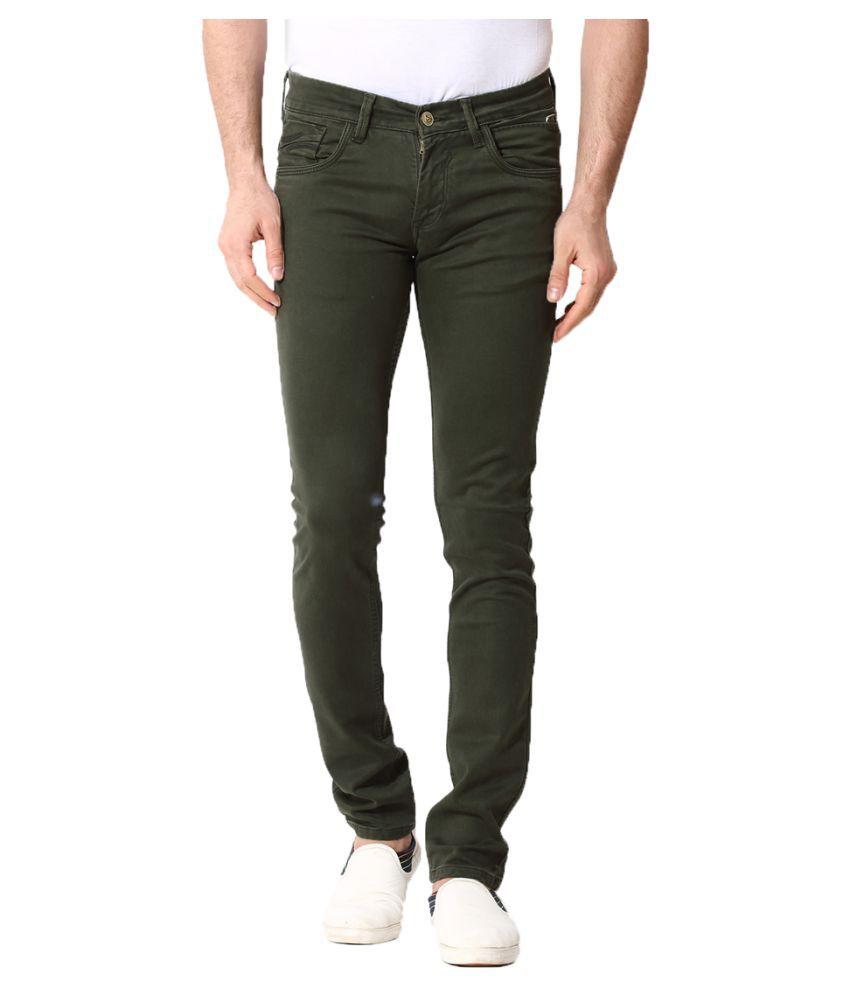 KOZZAK Green Slim Jeans