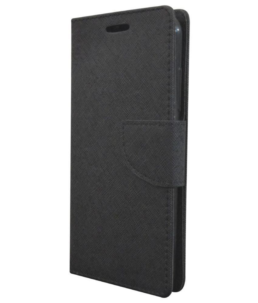 Lyf FLAME 1 Flip Cover by Rdcase - Black