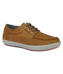 Woodland Yellow Casual Shoes