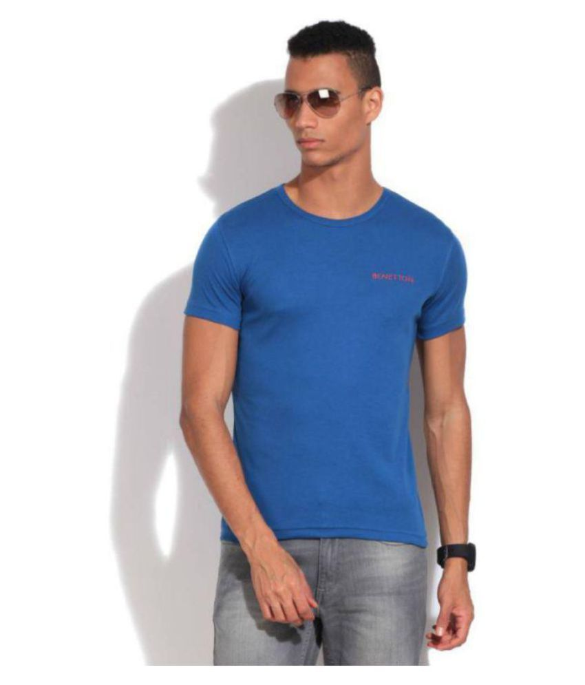 United Colors of Benetton Blue Round T-Shirt