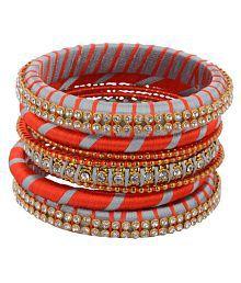 Shyla's Creation (Artificial Silkthread) Bangle Set for Women (SKU- SCB-BS-044)